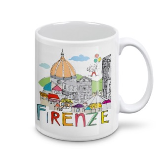 Tazza Panorama Firenze