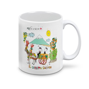 Tazza carretto siciliano - Sicilia